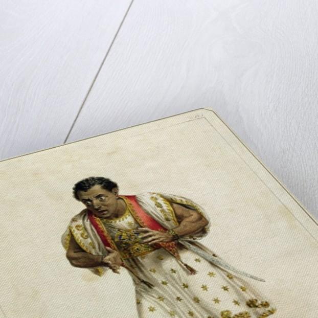 Portrait of Mr Edmund Kean as Othello by E.F. Lambert