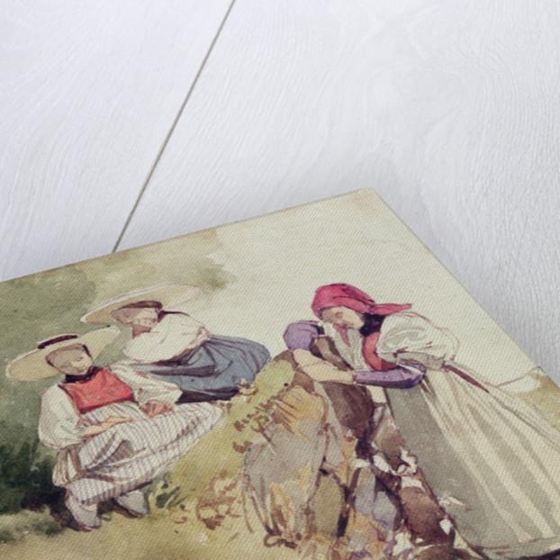 Three Females by Richard Parkes Bonington