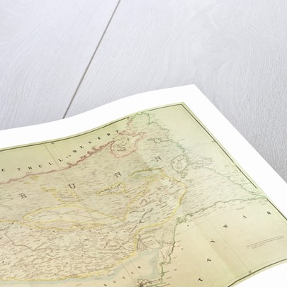 Map of Kutch and Runn, India by English School