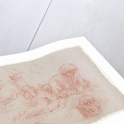 Study of a reclining man by Jean Antoine Watteau