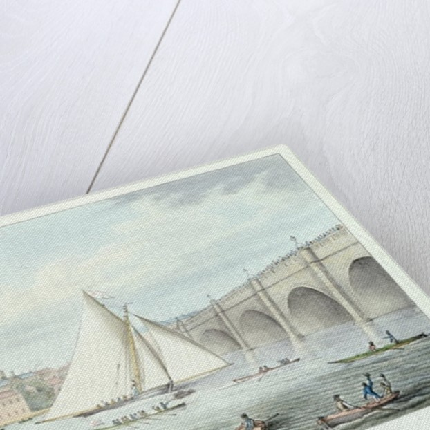 View of Westminster and the Bridge, with a Sailing Match by English School