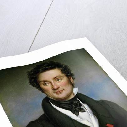 Portrait of Charles Nodier by Paulin Jean Baptiste Guerin