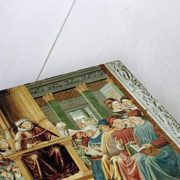 St. Augustine Reading Rhetoric and Philosophy at the School of Rome by Benozzo di Lese di Sandro Gozzoli