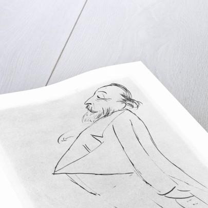 Caricature of Catulle Mendès by Ernest La Jeunesse