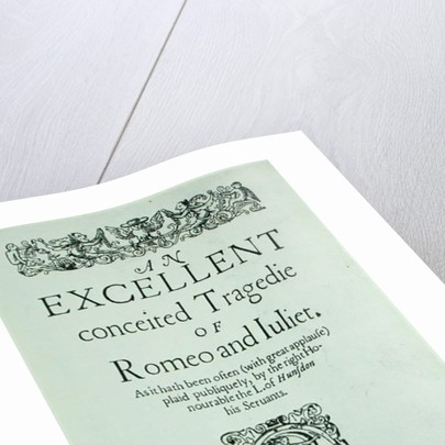 Title Page from 'Romeo and Juliet' by William Shakespeare by English School