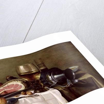 Still Life with Ham by Pieter Claesz