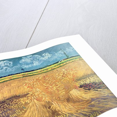 Wheatfield with Sheaves by Vincent van Gogh