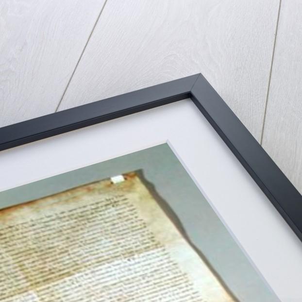 Charte de Franchise de la Ville de Vaucouleurs, granted by Gauthier de Joinville, confirmed by his uncle, Jean de Joinville by French School