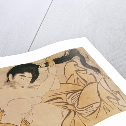 Yama-Uba, the Woman of the Mountain, with Kintoki, her Baby by Kitagawa Utamaro