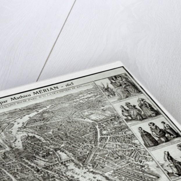 Bird's Eye Plan of Paris by Matthaus