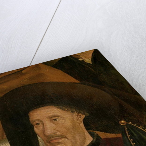 Henry the Navigator detail from the Polyptych of St. Vincent by Nuno Goncalves or Gonzalvez