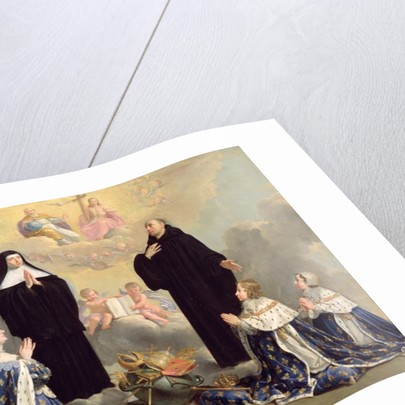 Anne of Austria and her Children at Prayer with St. Benedict and St. Scholastica by Philippe de Champaigne