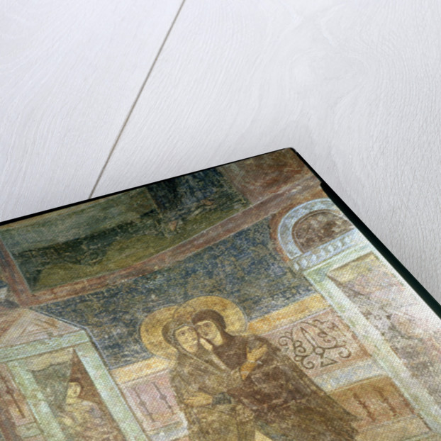 The Visitation, detail from the chapel interior by Byzantine