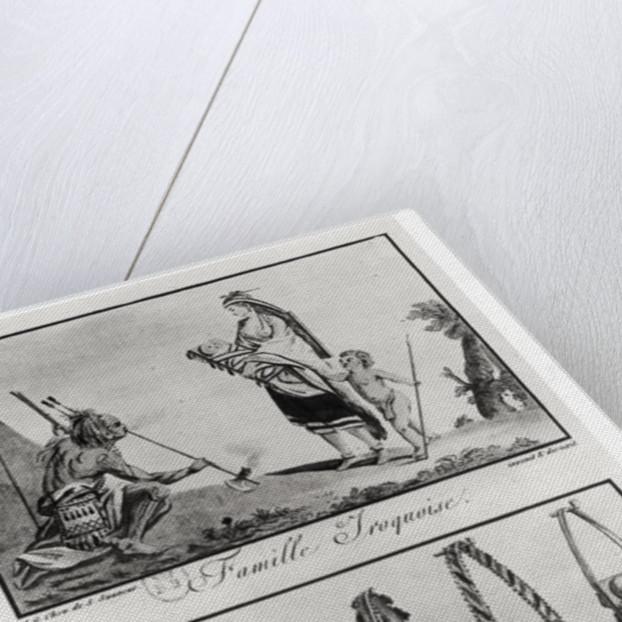 Iroquois family, arms and ornaments by Jacques Grasset de Saint-Sauveur