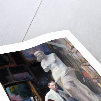 Ernest Renoux in his Studio, 50, rue Saint-Didier by Jules Ernest Renoux