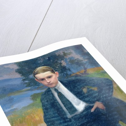 Portrait of Marcel Renoux aged about 13 or 14 by Jules Ernest Renoux