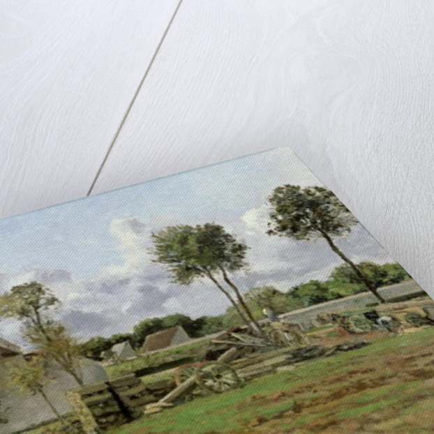Landscape, Louveciennes by Camille Pissarro
