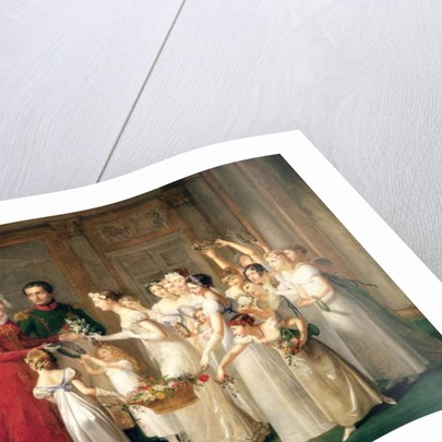 The Arrival of Marie-Louise de Habsbourg-Lorraine in the Gallery of the Chateau de Compiegne by Pauline Auzou