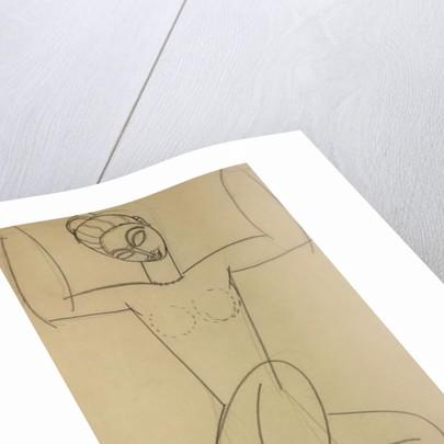 Seated Caryatid by Amedeo Modigliani