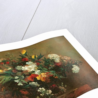 Flowers by Ferdinand Victor Eugene Delacroix