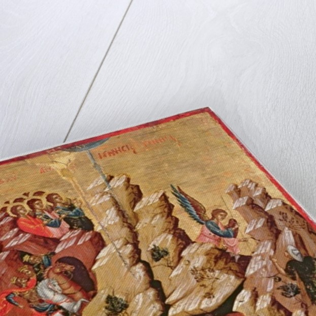 Icon depicting the Nativity by Greek School