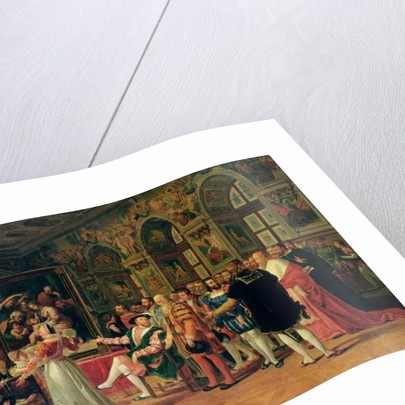Francis I Receiving a painting of the Holy Family by Raphael by Anicet-Charles Lemonnier