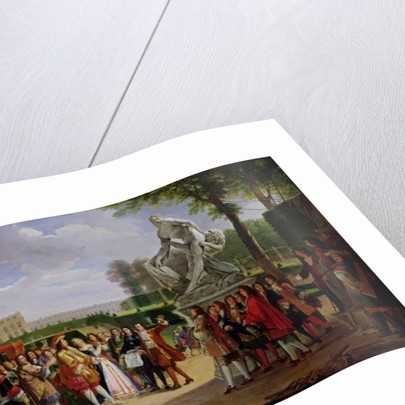 Louis XIV Dedicating Puget's 'Milo of Crotona' in the Gardens at Versailles by Anicet-Charles Lemonnier