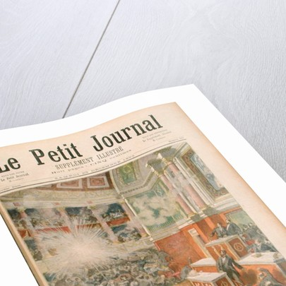 Dynamite Explodes in the Chamber of Deputies, front cover of 'Le Petit Journal' by Frederic Lix
