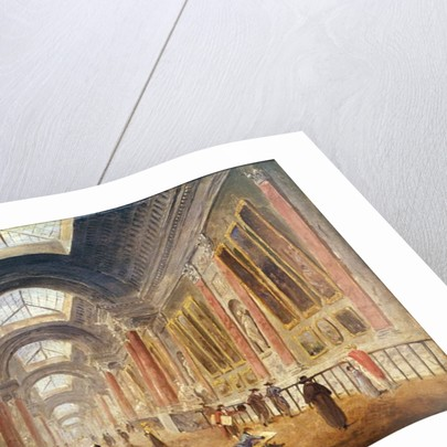 The Grande Galerie of the Louvre by Hubert Robert