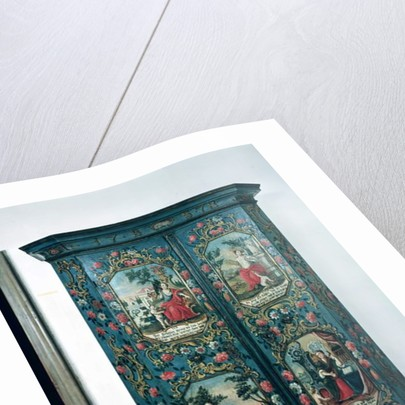 Wardrobe decorated with scenes of the four seasons, 1778 by German School