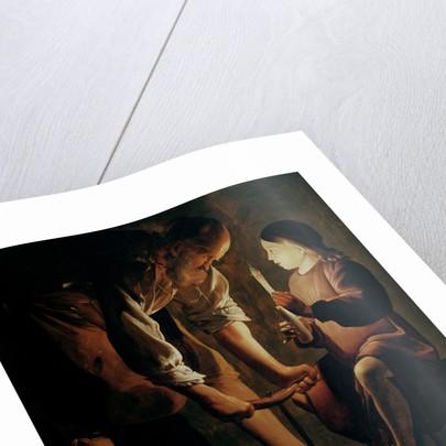 St. Joseph, the Carpenter by Georges de la Tour