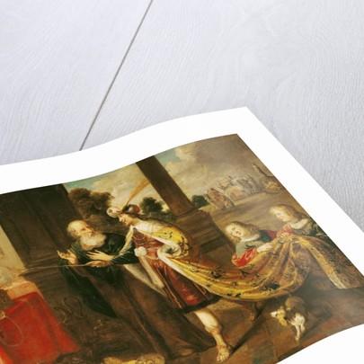 Ahasuerus Showing his Treasure to Mordecai by Claude Vignon