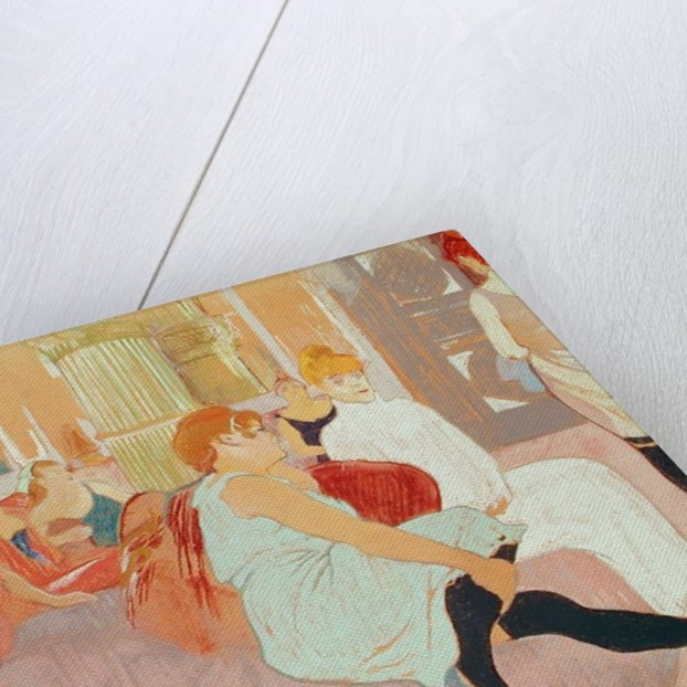 In the Salon at the Rue des Moulins by Henri de Toulouse-Lautrec