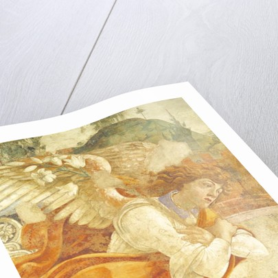 The Annunciation, detail of the Archangel Gabriel by Sandro Botticelli