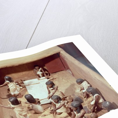 Funerary model of a textile workshop by Egyptian 11th Dynasty