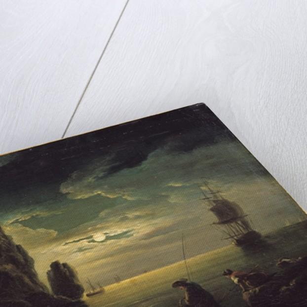 Evening Seascape by Claude Joseph Vernet