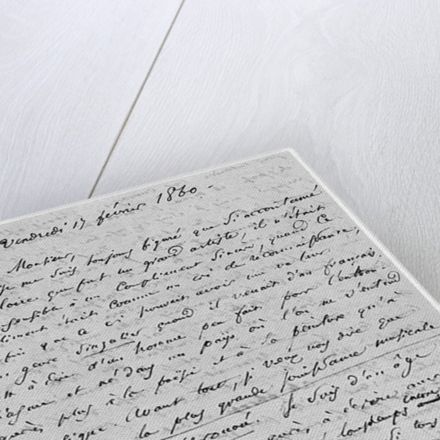 Letter to Richard Wagner 17th February 1860 by Charles Pierre Baudelaire