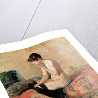 Nude Woman Seated on a Divan by Henri de Toulouse-Lautrec