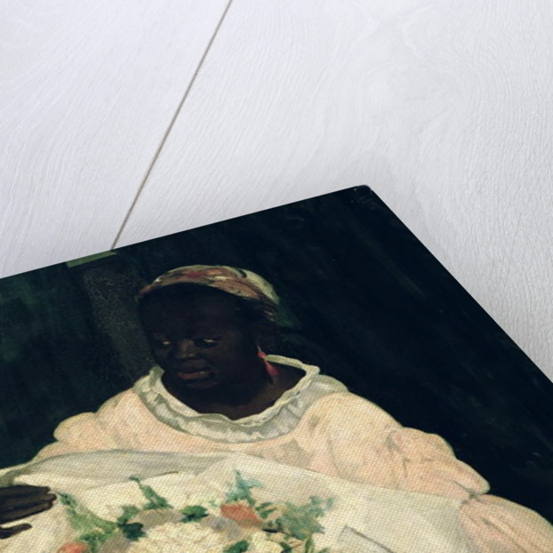 Olympia, detail of the black servant by Edouard Manet