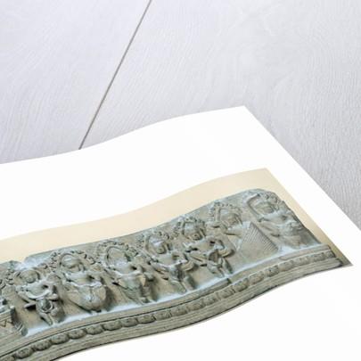Frieze depicting nine divinities by Cambodian School