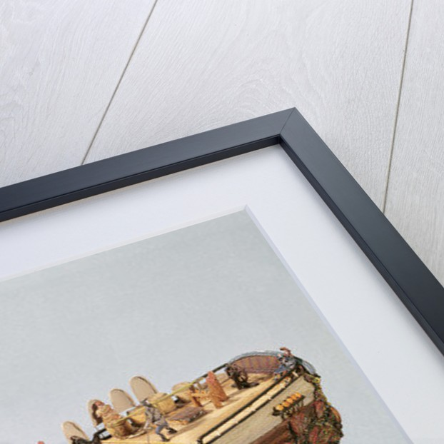 Model of a fishing boat by French School