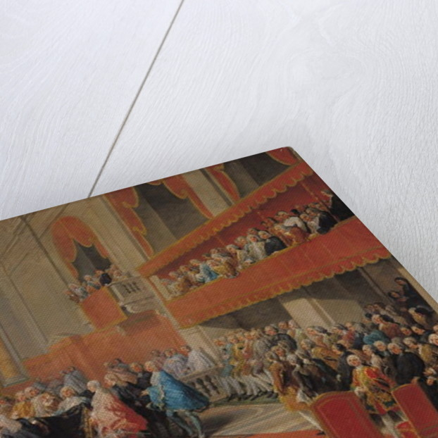 Presentation of the Order of the Holy Spirit to Prince Vaini by Paul-Hippolyte de Beauvillers Duke of Saint-Aignan in 1732 by Giovanni Paolo Pannini or Panini