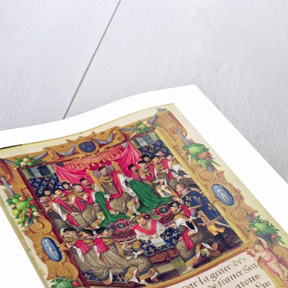 Henri II presides over a chapter meeting of the French chivalric Order of Saint-Michel by Jean the Elder Cousin