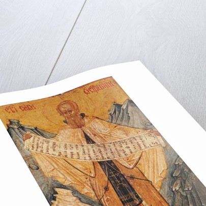Icon of St. Sabas of Jerusalem by Longin