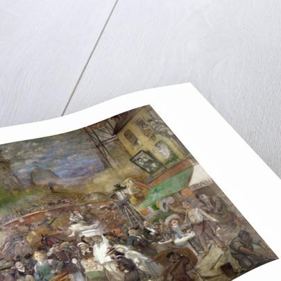 Decorative panel depicting Paris, Salon de la Commission du Personnel by Adolphe Leon Willette