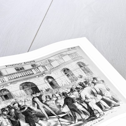 Revolt in Vienna on 30th March 1848 by German School
