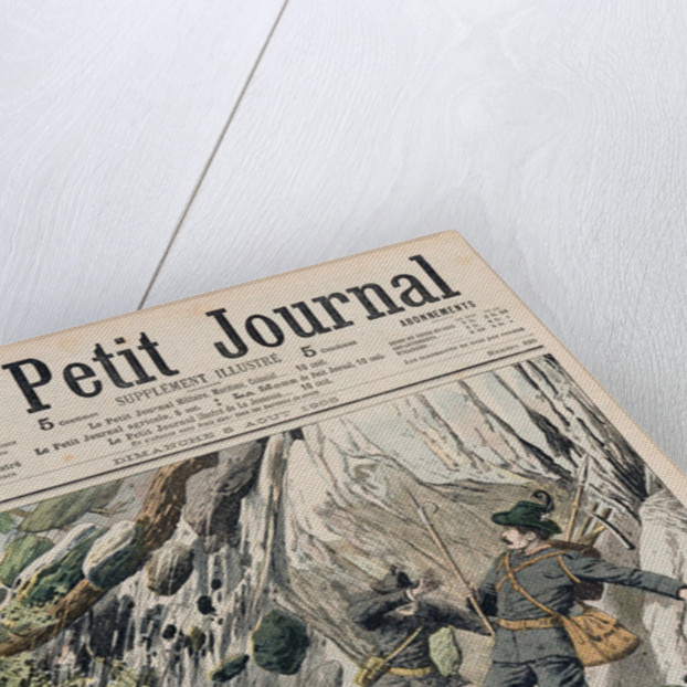 A Horrifying Rock Fall in Tyrol by French School