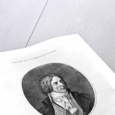 Antoine Christophe Saliceti engraved by Carlo Lasinio by Jean Baptiste Joseph Wicar