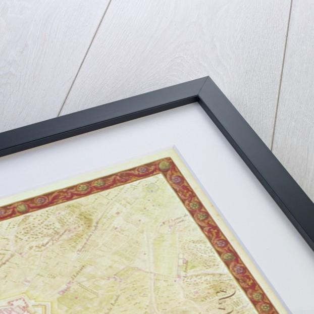 Plan and Map of Toulon by Sebastien Le Prestre de Vauban