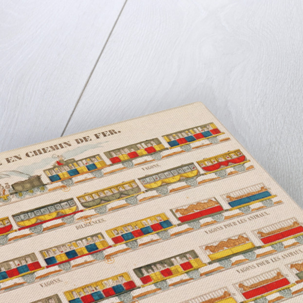 Rail Travel in 1845 (coloured engraving) by French School